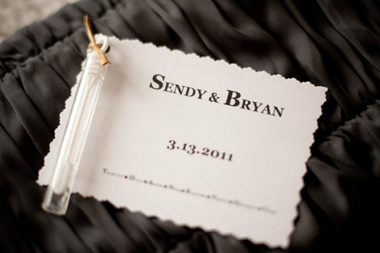 Sendy+Bryan Bubble Party Favor