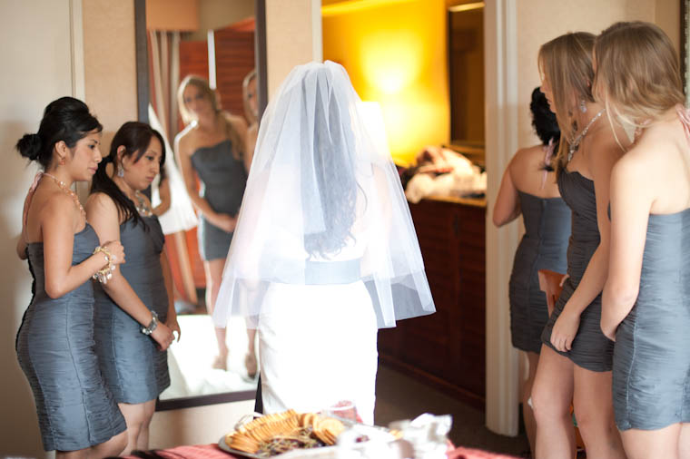 Bridesmaids See Sendy In Her Dress and Veil For The First Time