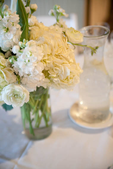 White Table Flowers
